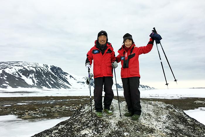 北極スピッツベルゲンクルーズにご参加の広島在住・品川ご夫妻