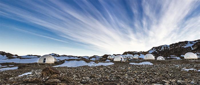 プライベートジェットで行く南極大陸9日間フイッチャウェイキャンプ地