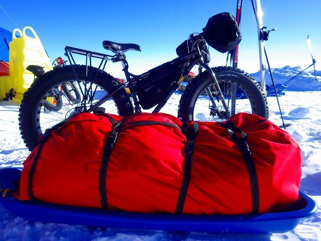 南極自転車と遠征装備